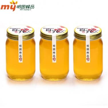 【家庭实惠装】明园天然百花农家土蜂蜜 418g*3瓶