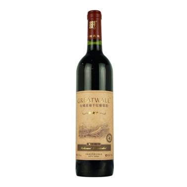 长城干红葡萄酒  蛇龙珠品种 750ml星级干红美容养颜