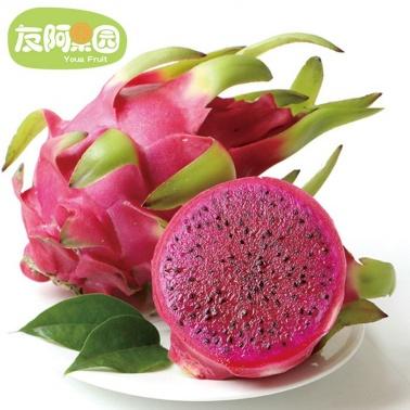 【友阿果园】越南进口红心火龙果 2个装(约2斤)